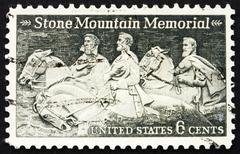 Postage stamp USA 1970 Stone Mountain Memorial - stock photo