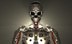 Advanced robot soldier Stock Illustration