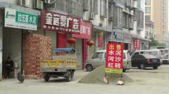 Jintang Town Chengdu Area Sichuan China 34 street handheld Stock Footage