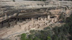 Mesa Verde Cliff Palace Indian Cliff Dwelling 4K 076 Stock Footage