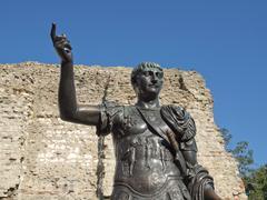 Emperor Trajan Statue - stock photo