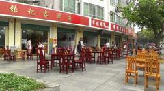 Jintang Town Chengdu Area Sichuan China 49 street handheld Stock Footage