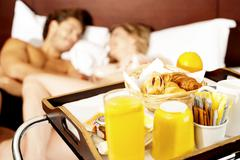 Let's wake up with healthy breakfast sweetheart Stock Photos