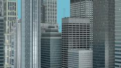 3D City Buildings Camera Fly-Through Hd Animation Stock Footage