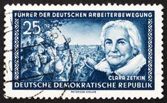 Postage stamp GDR 1955 Clara Zetkin Stock Photos