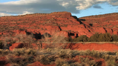 Pan shot of Redrock Landscape of Jemez, New Mexico. - stock footage