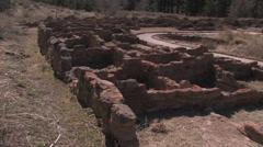 Native American Dwellings Stock Footage