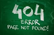 Stock Photo of 404 error, page not found