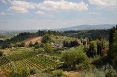 Stock Photo of Tuscany the province of Siena