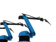 Industrial Robotic Arm Isolated Stock Photos