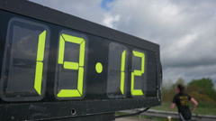 4K Marathon Race Clock Closeup 4339 Stock Footage