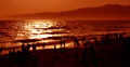 4K Beach Sunset 03 Santa Monica California Footage