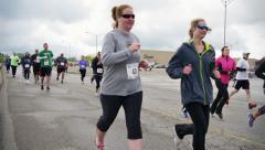4K Marathon Runners 4336 Stock Footage