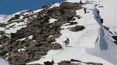 Mountain hiking Stock Footage