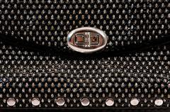 Black handle bag with buckle Stock Photos