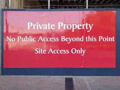 Private property sign - stock photo