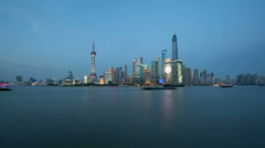 Shanghai bund,China, time lapse Stock Footage