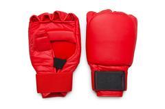 Kick-nyrkkeilyhanskat eristetty valkoinen Kuvituskuvat