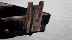 Old Wooden Boat Stock Footage
