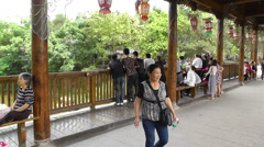 Wufeng Ancient Town Chengdu Area Sichuan China 3 handheld Stock Footage