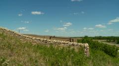 Kansas Flint Hills rock wall Stock Footage