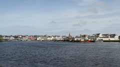 Stornoway waterfront Stock Footage