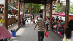 Wufeng Ancient Town Chengdu Area Sichuan China 7 handheld slowmotion Stock Footage