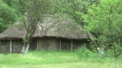 Ancient Ukrainian barn Stock Footage