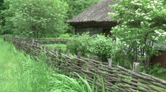 The fence near the house Stock Footage