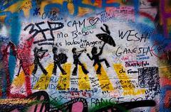 Lennon wall in Prague Stock Photos
