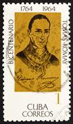Postage stamp Cuba 1964 Dr. Tomas Romay, Physician - stock photo