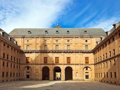 Castle Escorial near Madrid Spain Stock Photos