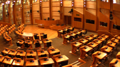 The Scottish Parliament Stock Footage