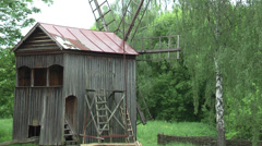Old windmill Stock Footage