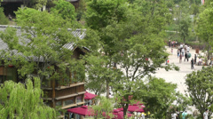Wufeng Ancient Town Chengdu Area Sichuan China 17 Stock Footage