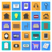 Stock Illustration of business work elements