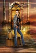 Travel girl - stock photo