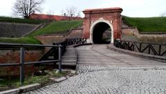 Old Gate. Petrovaradin Fortress. Stock Footage
