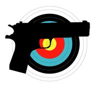 pistol target - stock illustration