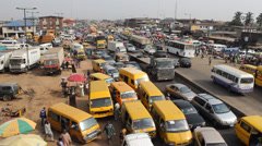 Lagos Nigeria traffic Stock Footage