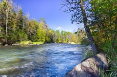 Namekagon River near Hayward, Wisconsin - stock photo