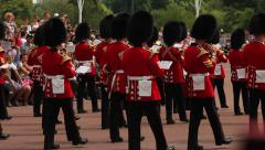 General view of the annual Trooping the Colour Ceremony at Buckingham Palace Stock Footage