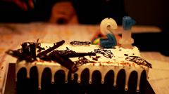 Birthday Cake. Stock Footage