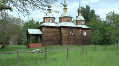 Ancient Cossack Church Stock Footage
