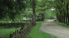 Old Ukrainian village Stock Footage