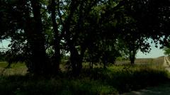 Kansas Flint Hills old road pan Stock Footage
