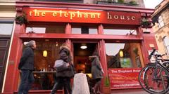 The Elephant House Pub - Edinburgh (Harry Potter) Stock Footage
