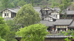 Wufeng Ancient Town Chengdu Area Sichuan China 35 Stock Footage