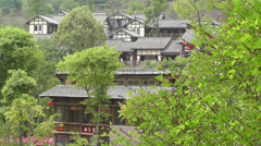 Wufeng Ancient Town Chengdu Area Sichuan China 36 Stock Footage