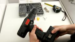Drill mounting – installation Stock Footage